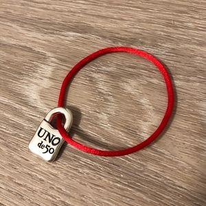 Uno de 50 Sterling Silver Charm Bracelet, NEW